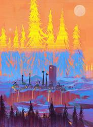 'Mining colony' Speedpaint by DaisanART
