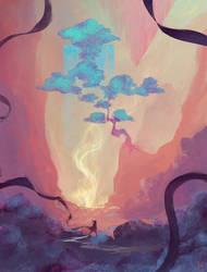 'Blue Tree Valley' by DaisanART