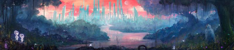 Princess Mononoke journey into the future by DaisanART