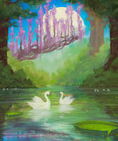 'Swan Lake in the Forest'