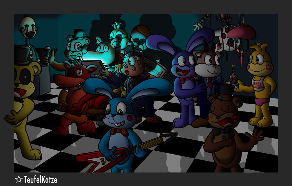Kaiser and karl with five nights at freddy s by teufelkatze on