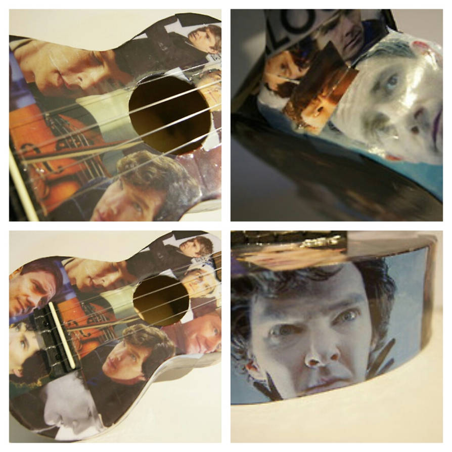 Sherlock ukulele by Fazer27 on DeviantArt