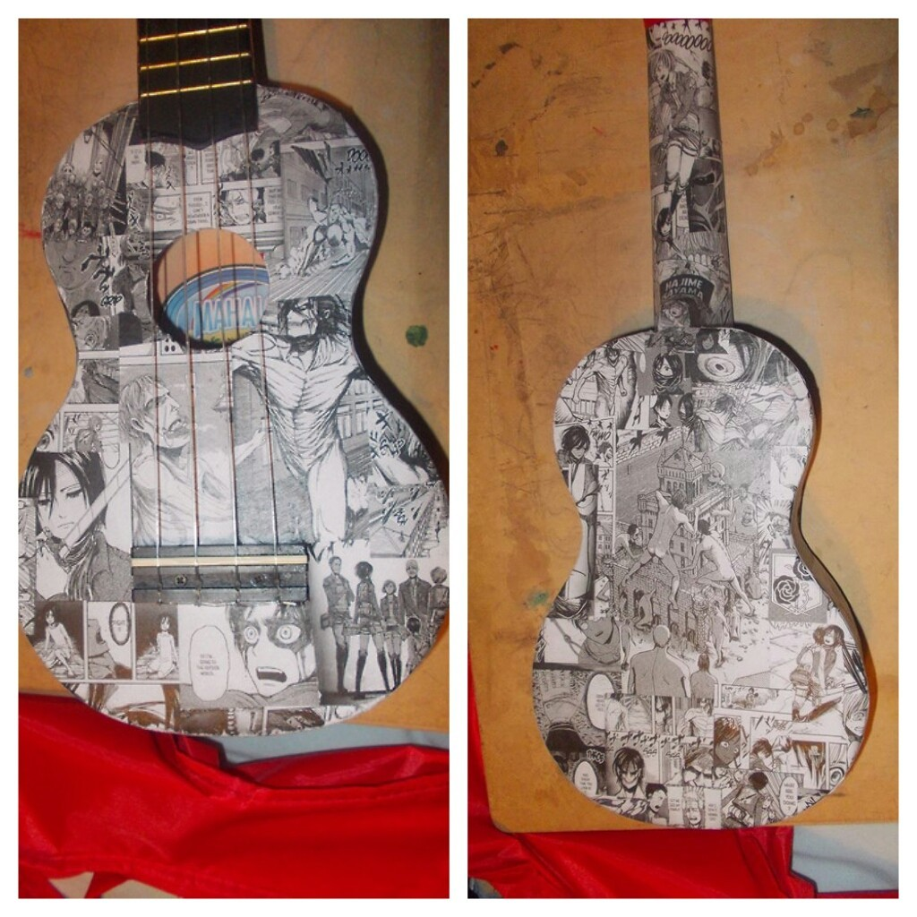 attack on titan ukulele by Fazer27