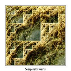 Sierpinski Ruins by carlx