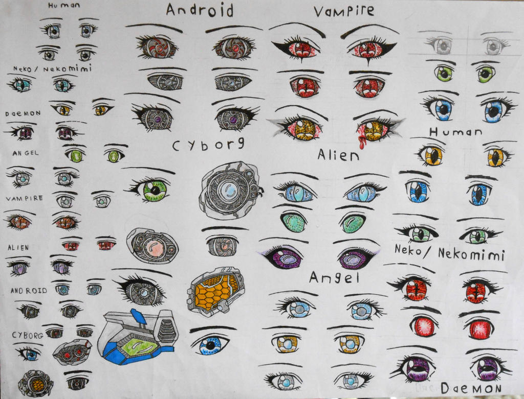 Anime Eye Shapes Different Species Anime Eyes