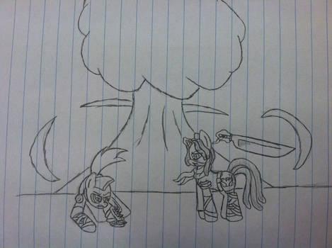 Badass pony fight.