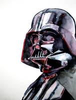 Darth Vader watercolor sketch