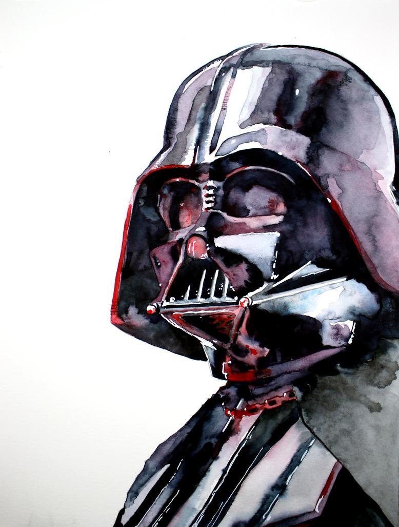 Darth Vader watercolor sketch by RobHough on DeviantArt