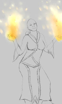 Fire and the Sorcerer ych(open $5 usd bid