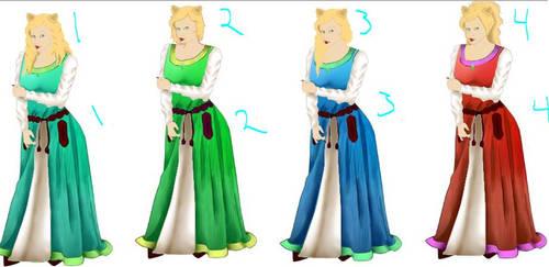 which hair,  which dress?