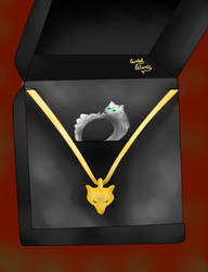 Callisto's engagment ring and necklace
