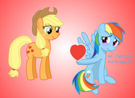 Happy Hearts and Hooves Day, Applejack by Pajama-Ham