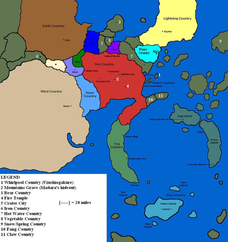 Perfect Naruto World Map By Tiberius66 ...