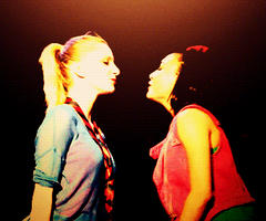 Glee Live Brittana Kiss by GabberKittie