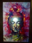 Colorful Buddha Statue Postcard.