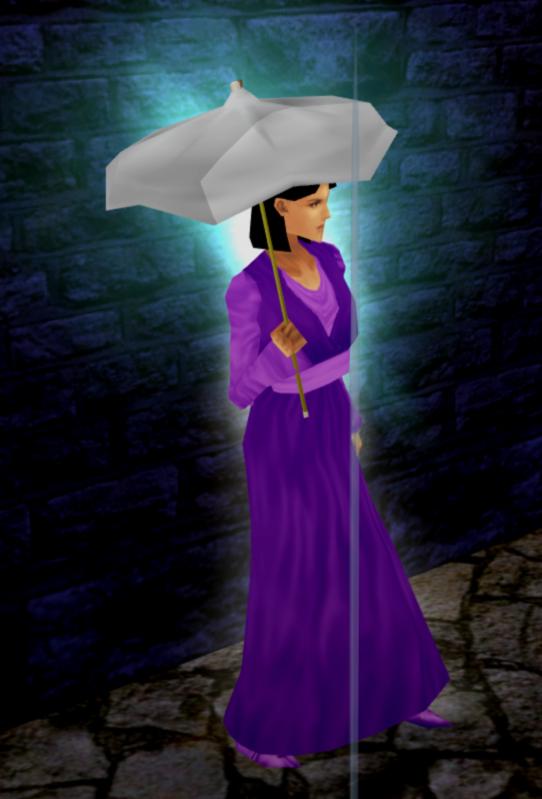 Chea Allin - Purple Kimono 'n' White Umbrella.