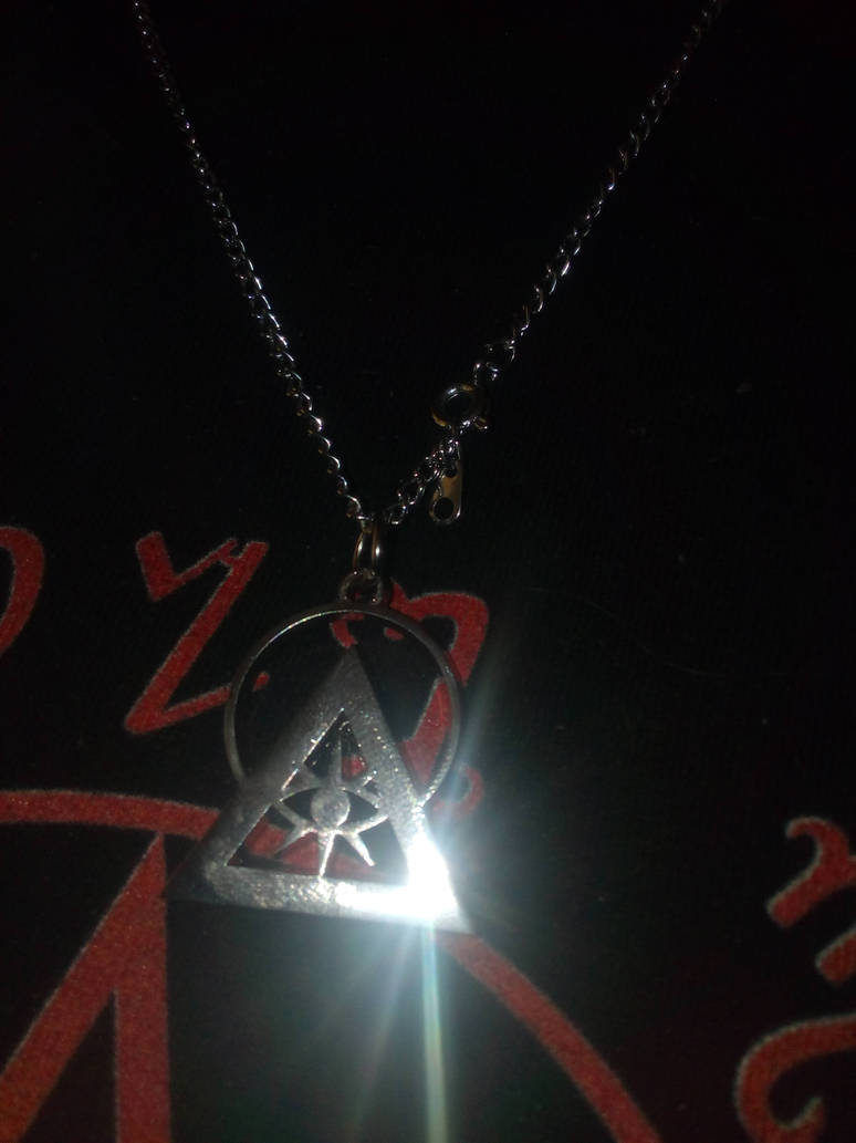 Silver Rhodium Illuminati Talisman.