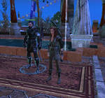 Frances Darkhaven with a hired Mercenary.