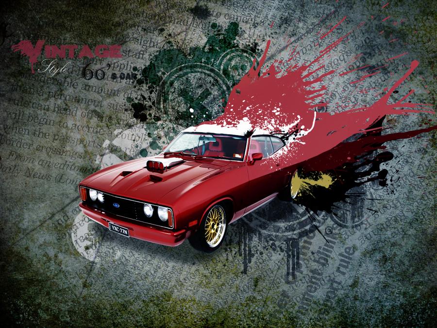Vince création - 2009/2011-  Vintage_style_60__s_car_by_vincepi-d35shzt