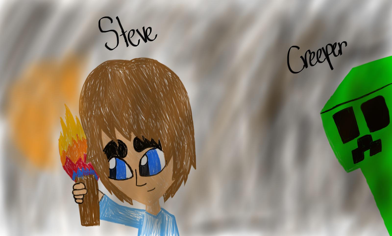 Steve and Creeper by Riyana2