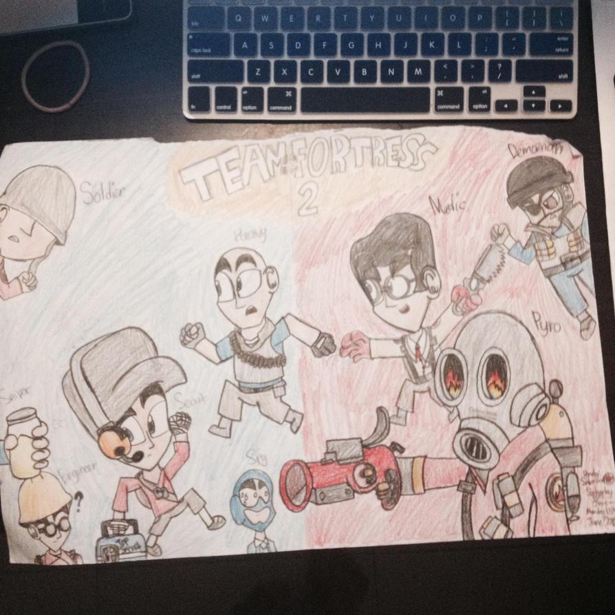 My TF2 Drawing by Riyana2