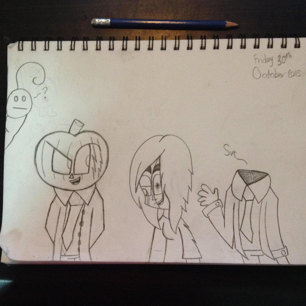 Random Halloween Drawing by Riyana2