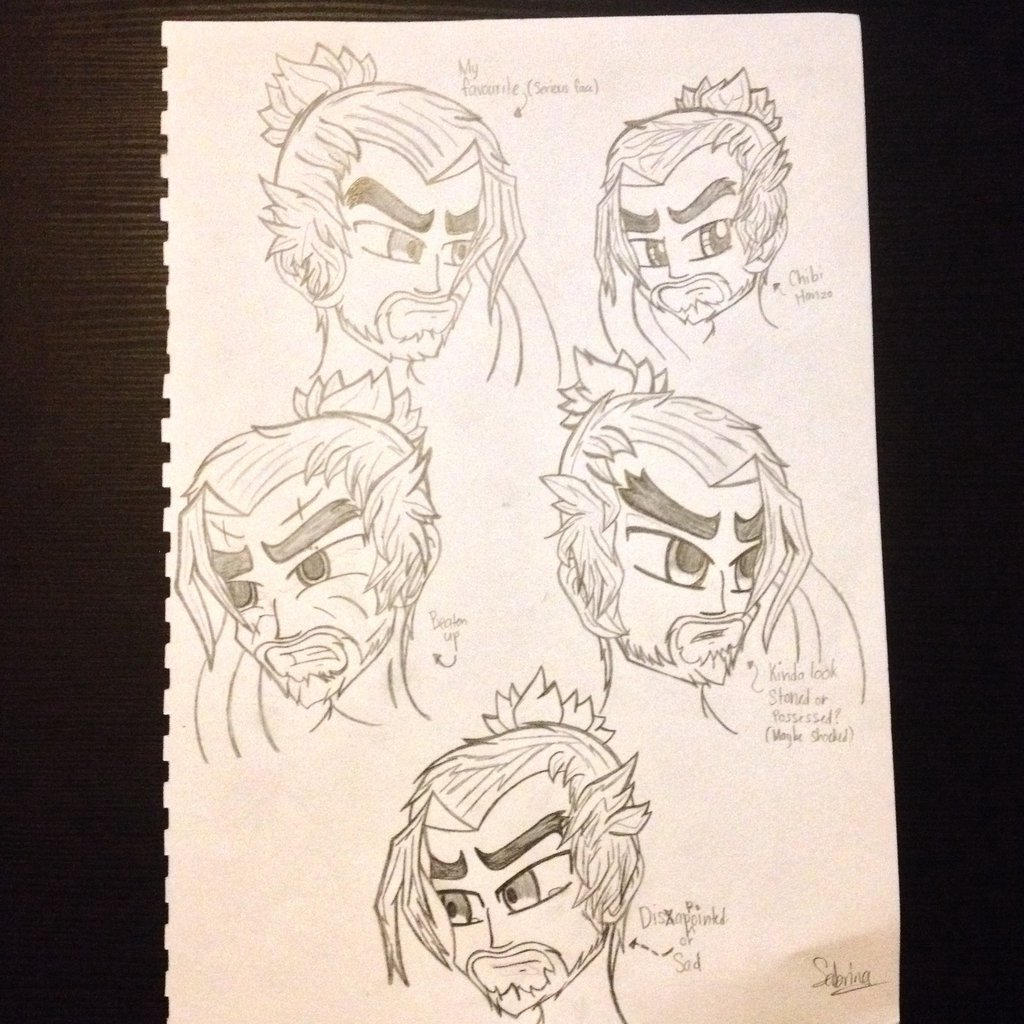 Drawing Overwatch - Hanzo by Riyana2