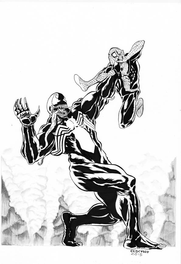 Venom vs Spiderman 2015 by LuigiCrisc