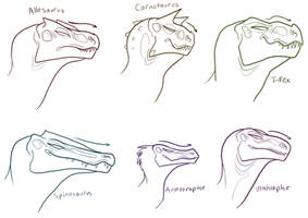 carnivore head sketches by TRUNSWICKED