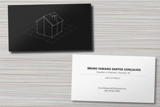 Minimalist 3D illustrator bussiness card