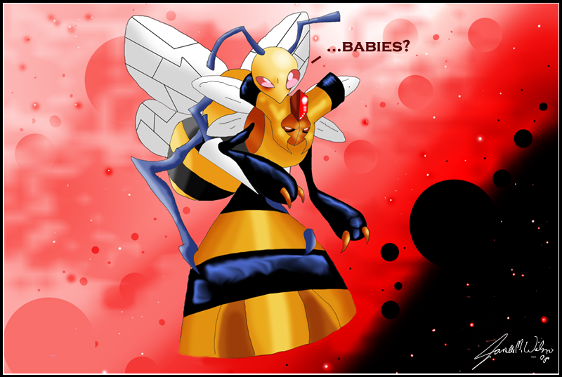 Beedrill and Vespiquen: Babies by WeisseEdelweiss on ...