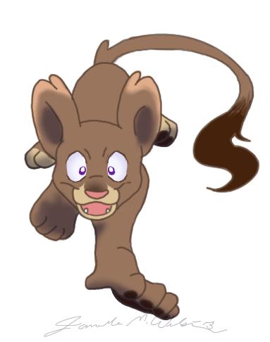 Female Lion Cub by WeisseEdelweiss