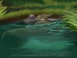 Land before Time Adult Ducky by WeisseEdelweiss