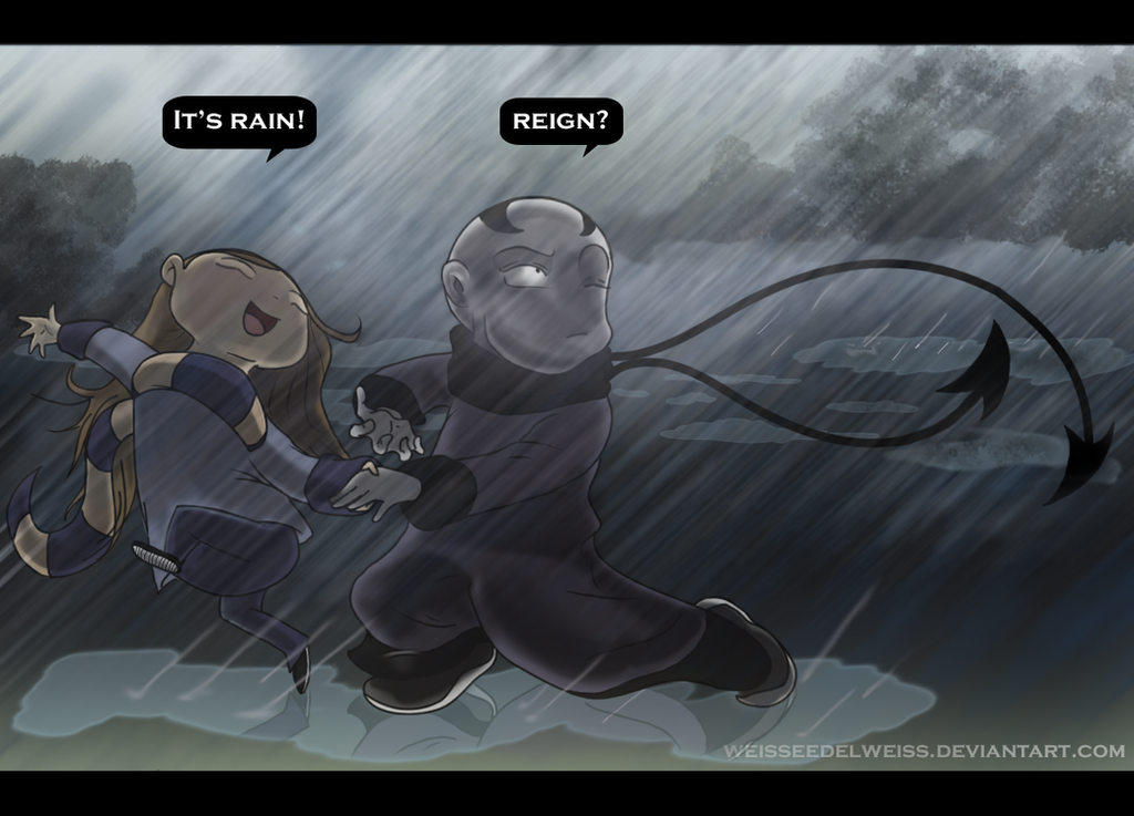 Oh My Spirit Guide! Run in the Rain Version 2 by WeisseEdelweiss