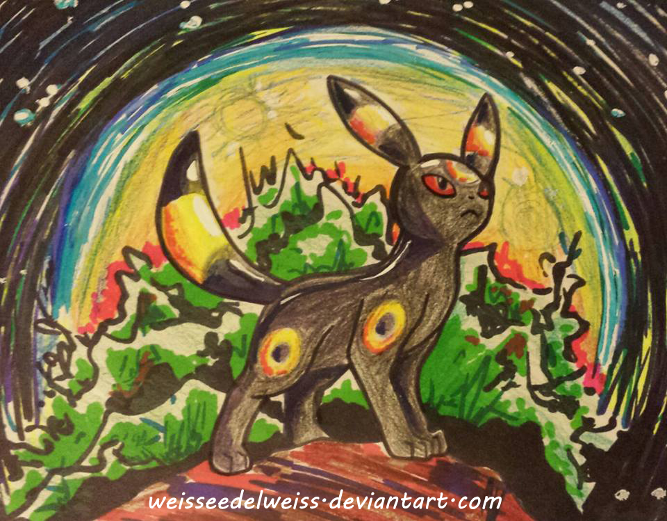 Umbreon the Moonlight Pokemon by WeisseEdelweiss