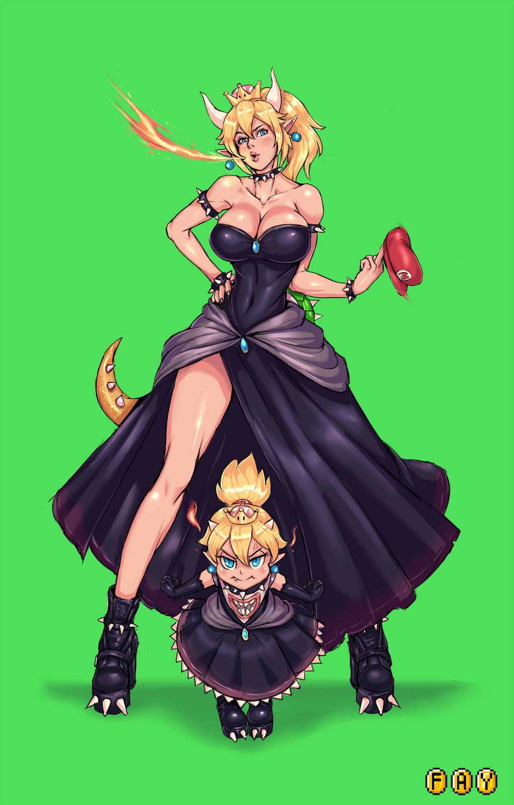 Bowsette! by faymantra