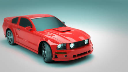 Mustang Toy 3d Model by TonyMakesModels