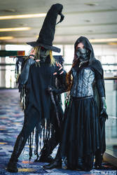 Scarecrow and Mistress of Fear, Tim Sale versions by beckyalbright