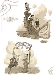 Lemony snicket: chapter illustrations set 2 by MarcoGiorgianni