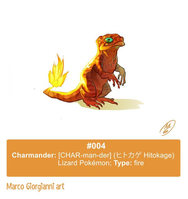 #004 Charmander by MarcoGiorgianni