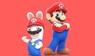 Mario and Rabbid Mario - Stamp by Ferxo129