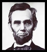 Lincoln in Ballpoint Pen by J-Stephen-Gazsi