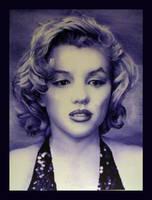 Marilyn Monroe in Ballpoint Pen w/video by J-Stephen-Gazsi