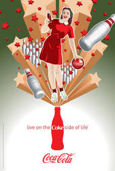 Coca-Cola Bowling Girl