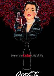 Coca-Cola Lady - Rouge et Noir