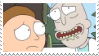 Rick and morty stamp by Mesmeromania