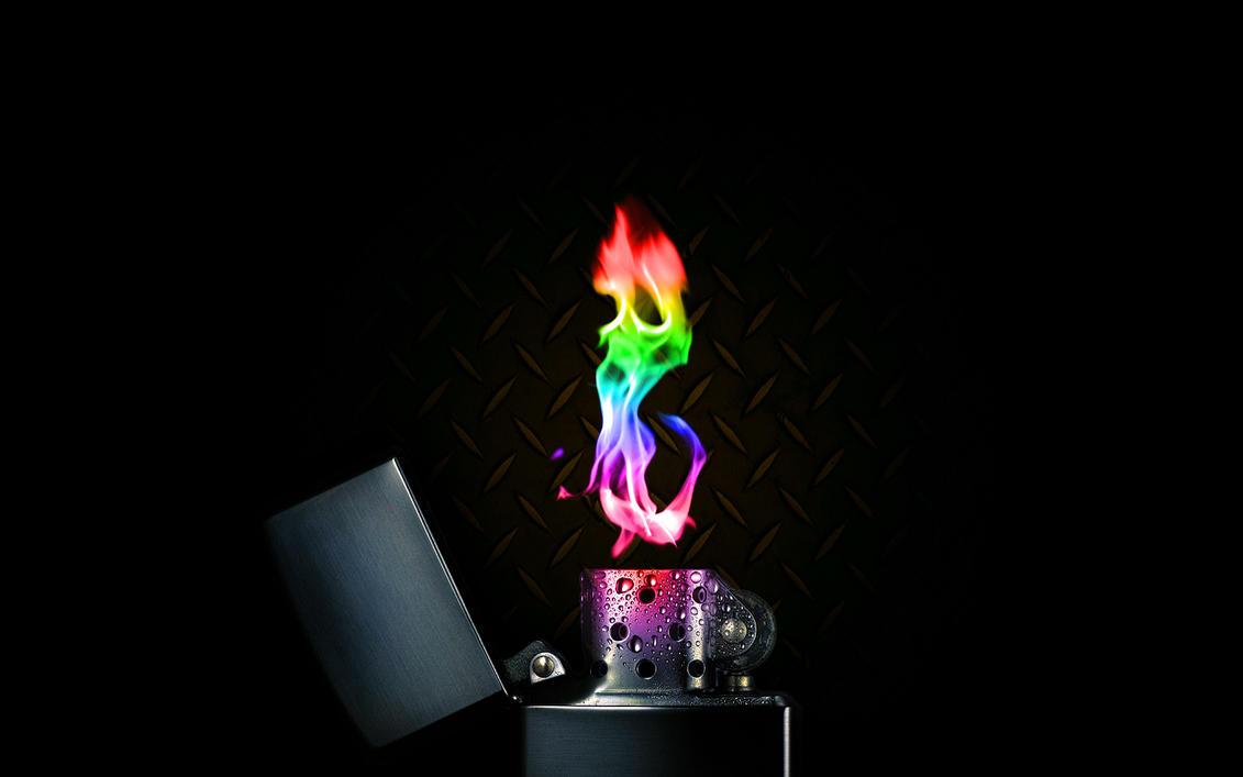 Rainbow Lighter by Blktiger0 on DeviantArt