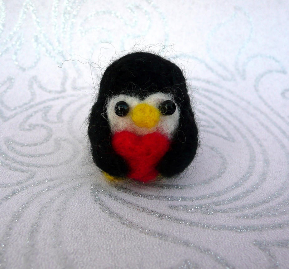 Fuzzy Penguin Needle Felt! by Charlottejks