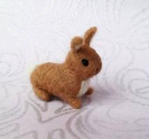Little Bunny Needle Felt by StarlitCutesies