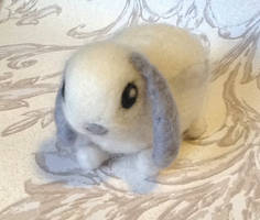 Needle Felted May the Baby Bunny